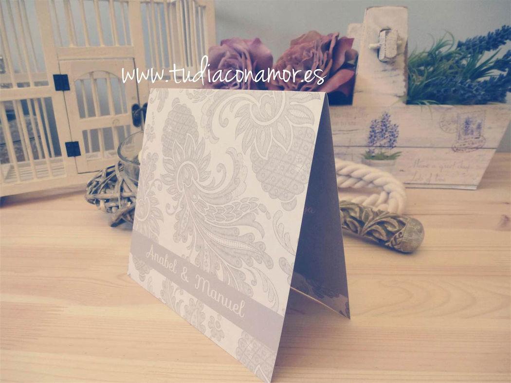 Tarjetas de boda bonitas y elegantes
