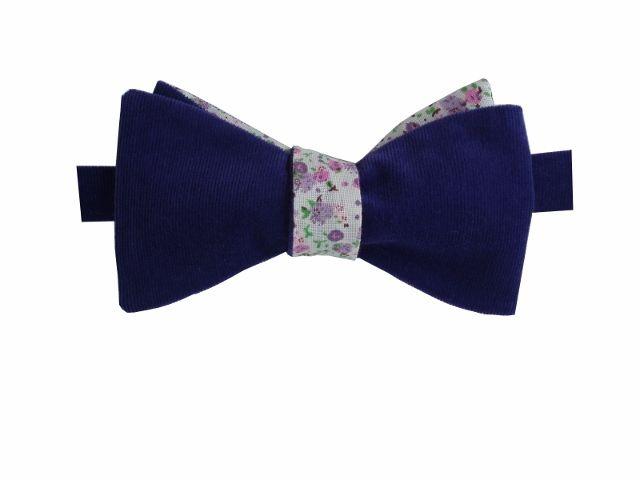 Noeud Papillon en velours violet