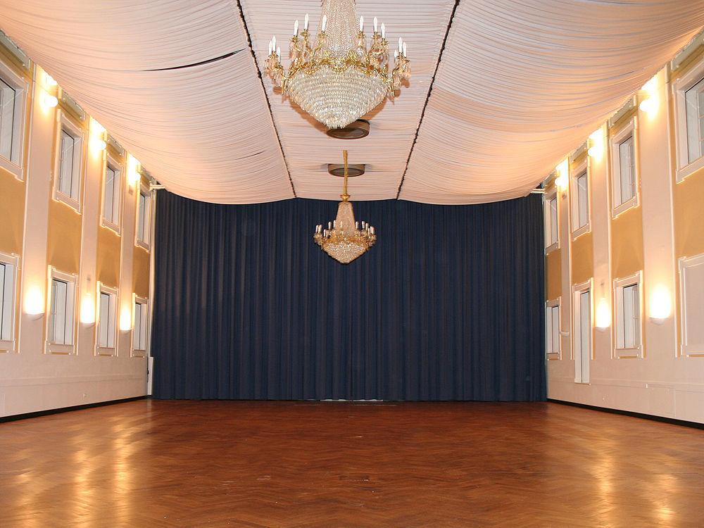 Beispiel: Gwandhaus Saal, Foto: Gwandhaus.