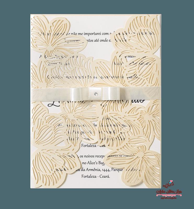 Convite Corte A Laser  - Ref . CL.033