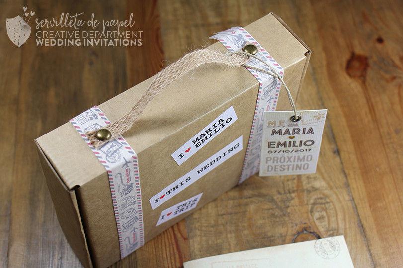 Invitación maleta
