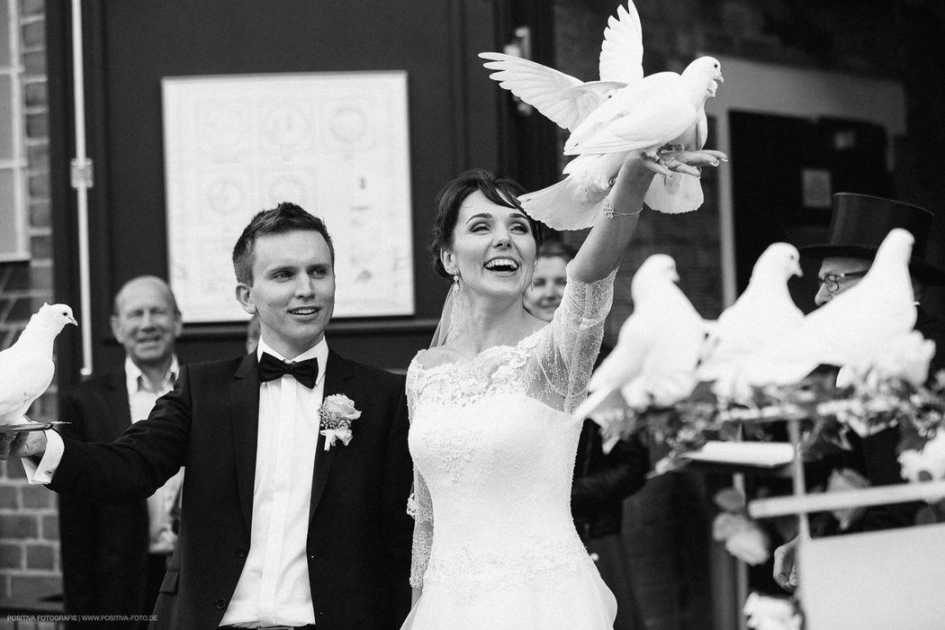 Hochzeit in Lüneburg - nach der Trauung in Wasserturm