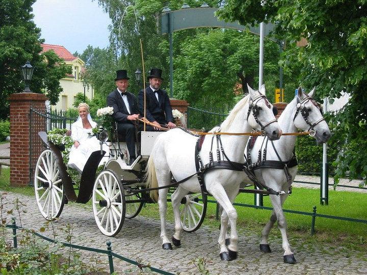 Beispiel: Hochzeitskutsche, Foto: Schloss Diedersdorf.