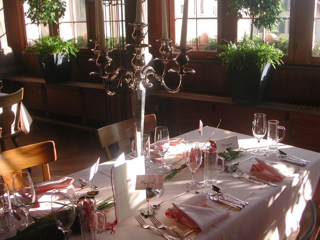 Beispiel: Tischdekoration, Foto: Restaurant Gemeindehaus.