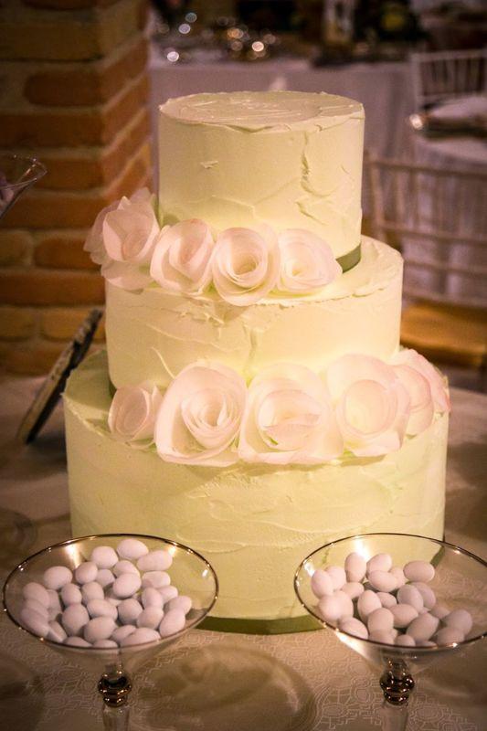 Torta di Letizia Grella (cake designer in collaborazione con Yes wedding planner)