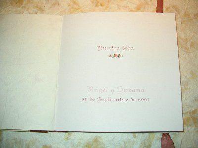 La cigüeña de papel, interior libro de firmas