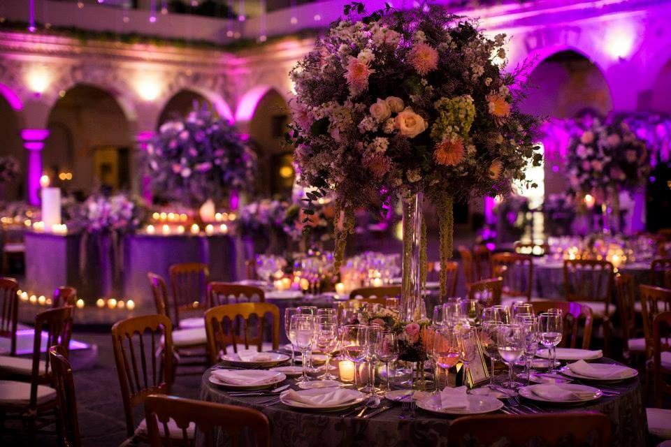Diseño floral de vanguardia.