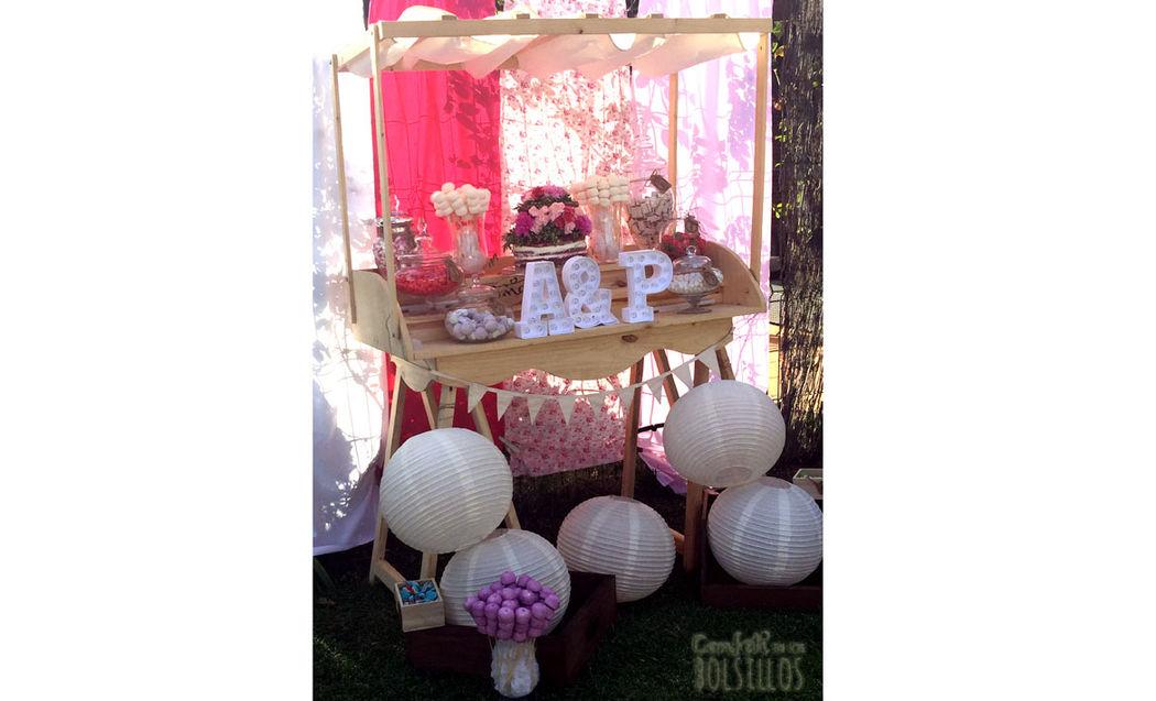 Candy bar temática floral