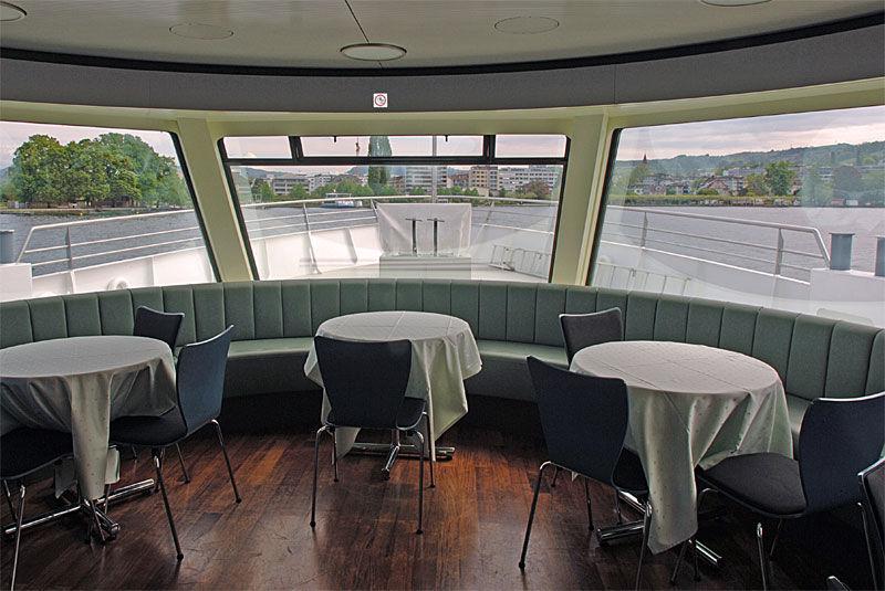 Beispiel: Gastronomische Schifffahrt, Foto: Zugersee Schifffahrt.