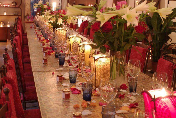 Beispiel: Hochzeitstafel, Foto: Le Marrakech.