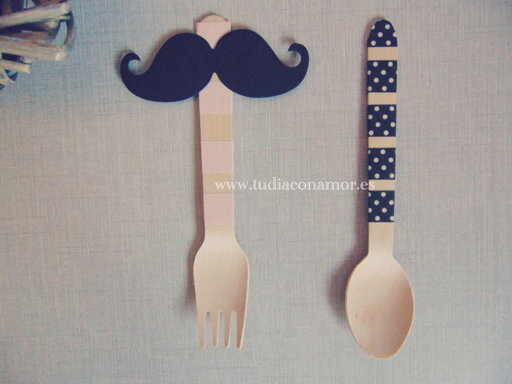 Tenedor y cuchara de madera