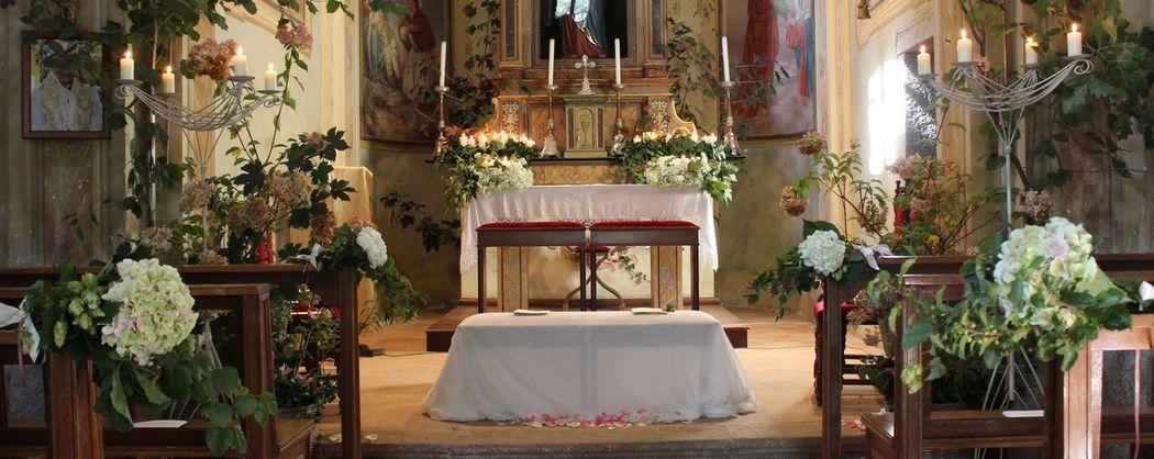 Fiordifragola - chiesa di campagna - matrimonio bosco