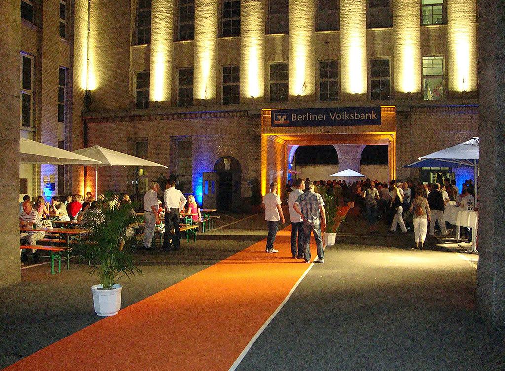 Beispiel: Ludwig Loewe Höfe - Eingang, Foto: Loewe Saal.