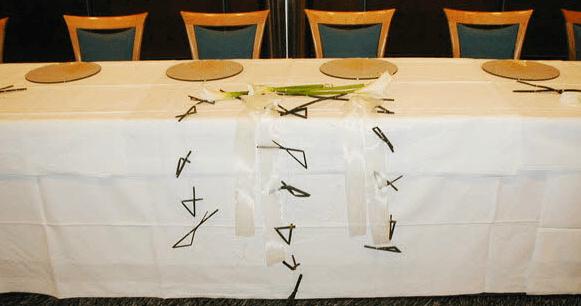 Beispiel: Tischschmuck, Foto: Blumenoase.