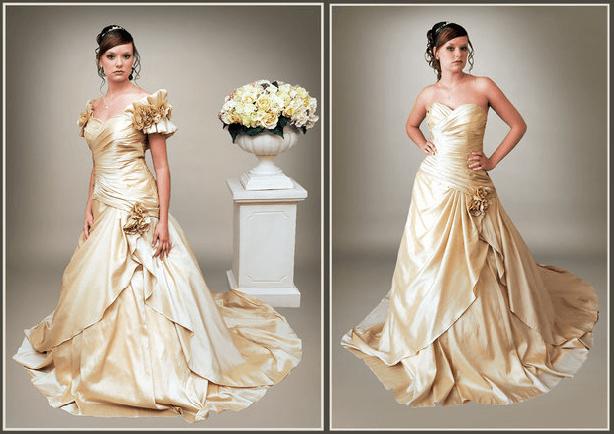 Beispiel: Brautkleider in vielen Größen, Foto: s'Bruthüsli.