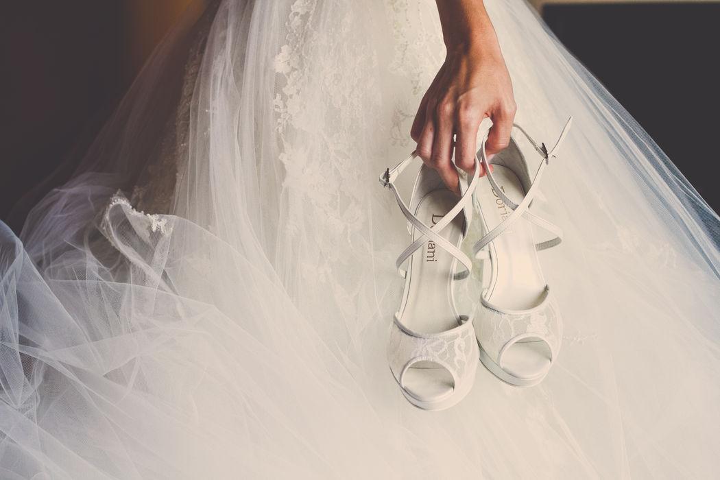 Fotografía detalle zapatos Novia