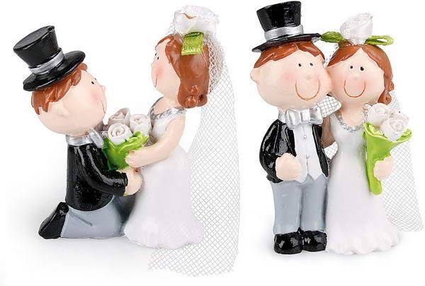Beispiel: Brautpaar Adam und Eva, Foto: Baumann Floristik und Dekoration.