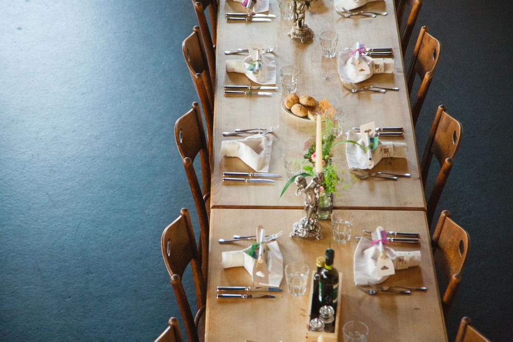 Beispiel: Fotos von der Hochzeitsfeier, Foto: Jeanine Linder Photography.