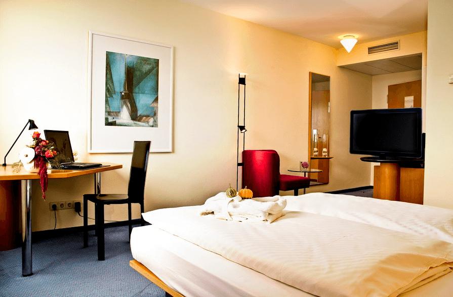 Beispiel: Zimmer, Foto: Atlanta Hotel International Leipzig.