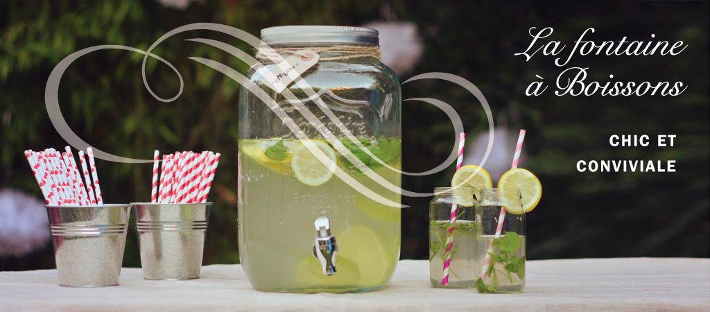 La fontaine à boisson, Chic et conviviale. Laissez vos invités se servir et profitez de la fête.