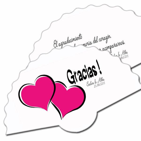 abanicos carton boda