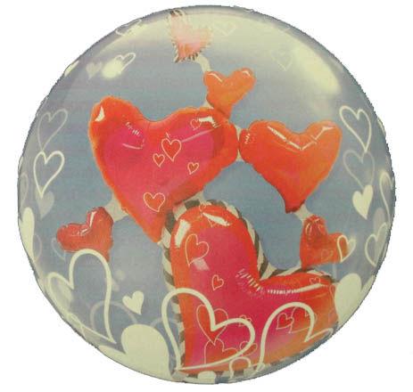 Beispiel: Ballon mit Herzen, Foto: BallonIdee.