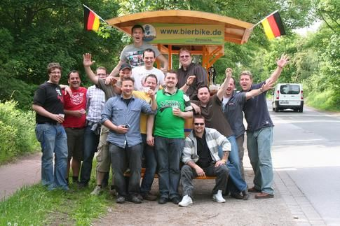 Beispiel: Spaß in der Gruppe, Foto: BierBike Niederrhein.
