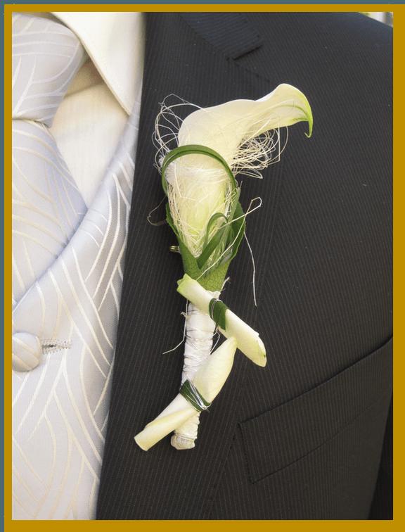 Beispiel: Blumenanstecker, Foto: Die Blumen-Lounge Göllner.