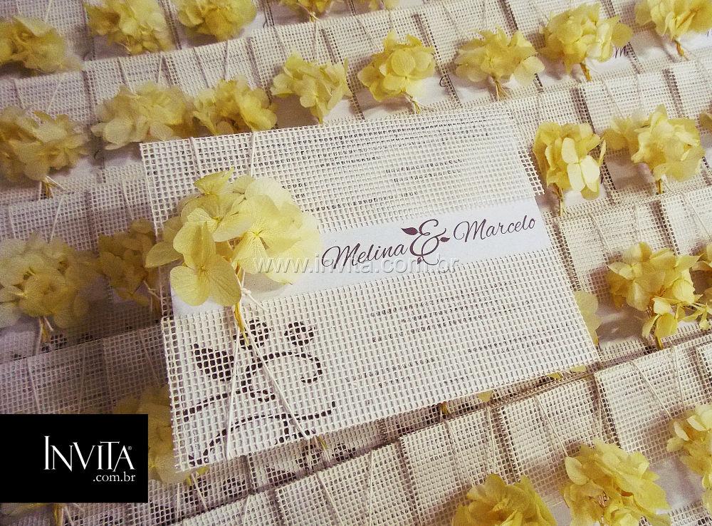 Convite de Casamento Ecológico - Cód.: C080