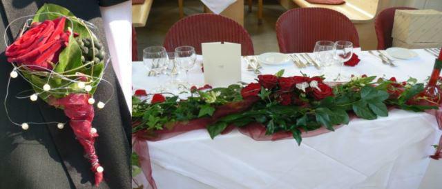 Beispiel: Autogesteck - Brautsträuße, Foto: Hadrigan Blumen Ambiente.