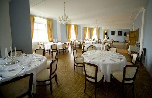 Beispiel: Eindruck vom Blauen Fest- und Tanzsaal, Foto: Schloss Weiterdingen.