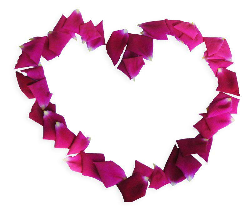 Beispiel: Ein Herz aus Rosen, Foto: Internet.