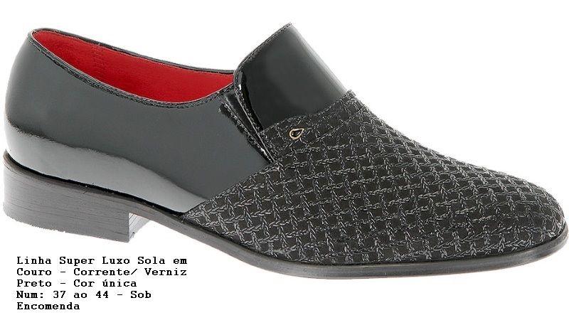 Sapato masculino. O noivo também precisa de um sapato lindo e confortável! Ref.1561 Cor - somente preta