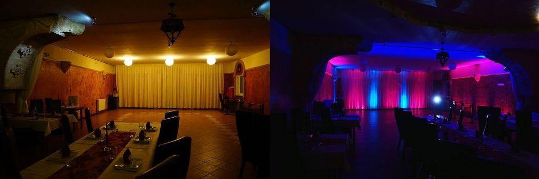 Dekoracja światłem - efekt PRZED i PO !!!