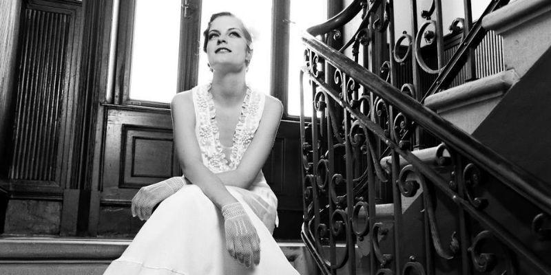 Beispiel: Brautkleid Stil 20er Jahre, Foto: küssdiebraut.