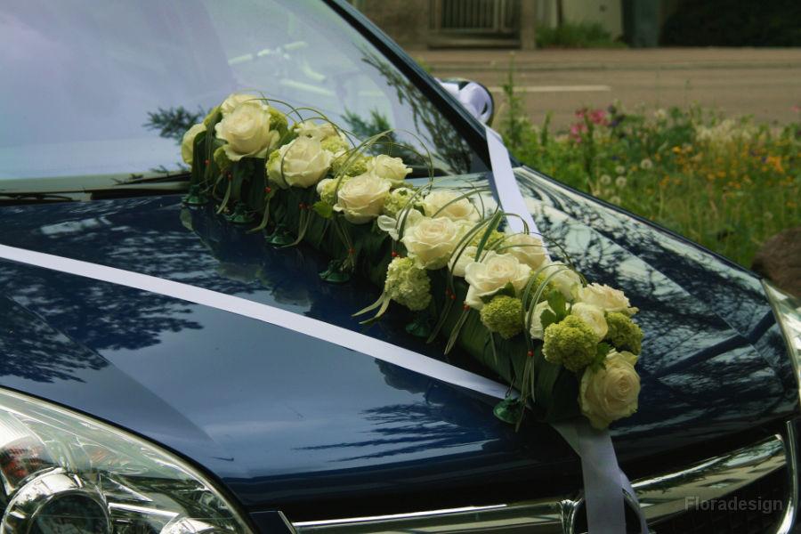 Beispiel: Autodekoration, Foto: Floradesign.