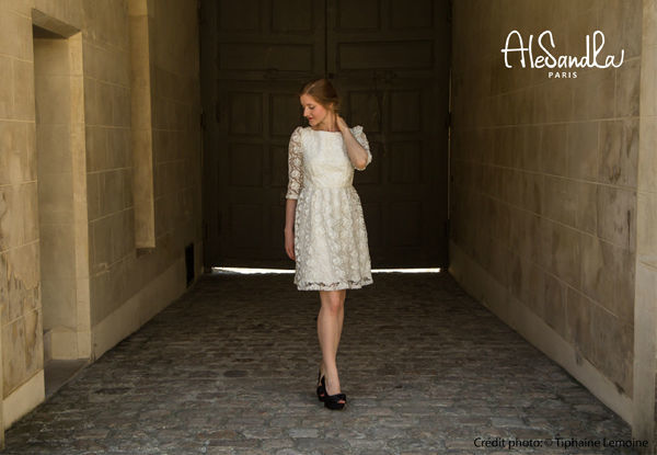 Alesandra Paris robe de mariée courte