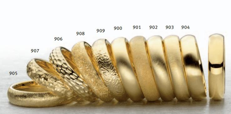 Beispiel: Unterschiedliche Bearbeitung, Foto: Juwelier Bichler.