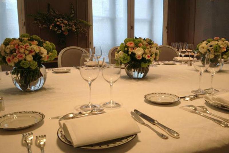 Centres de table pour une Grande Maison de Couture