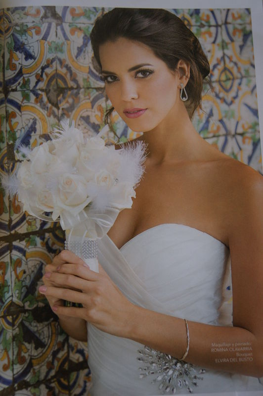 Produccion para Revista Bodas Valeria Piazza. Miss Peru Universo.