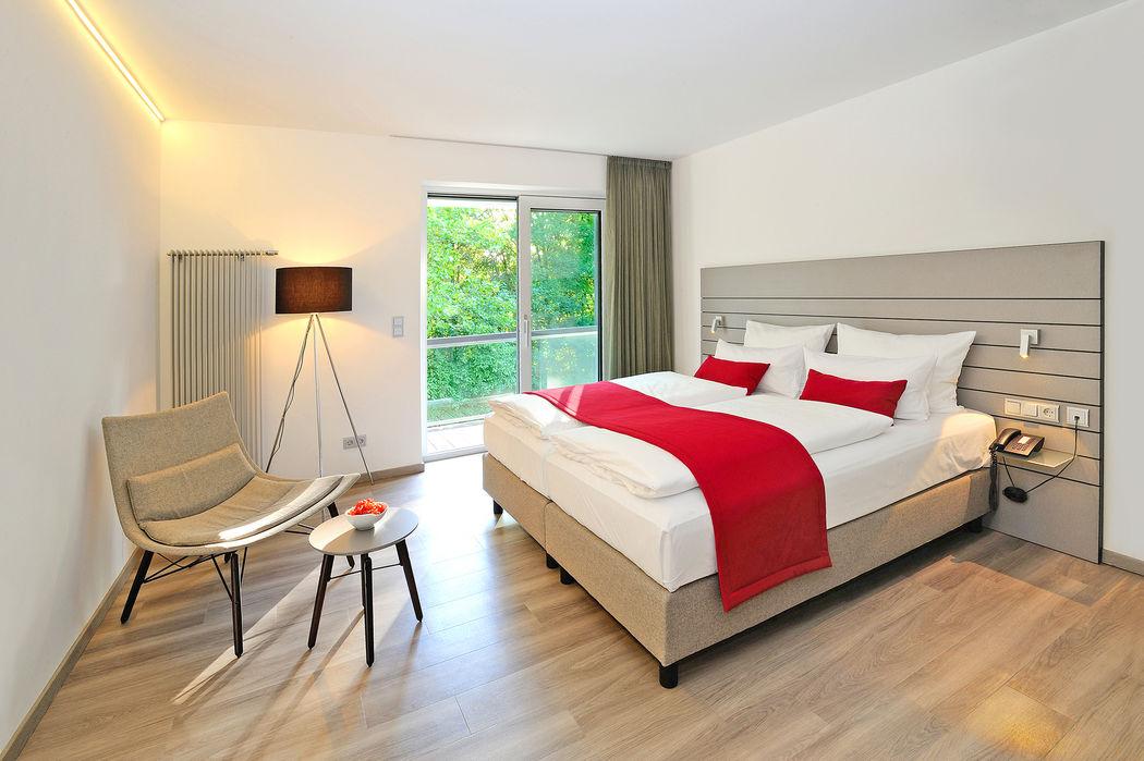 Beispiel: Doppelzimmer Standard, Foto: Schlosshotel Monrepos.