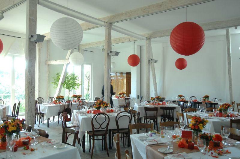 Beispiel: Feierlich geschmückter Raum, Foto: Nothenhof.