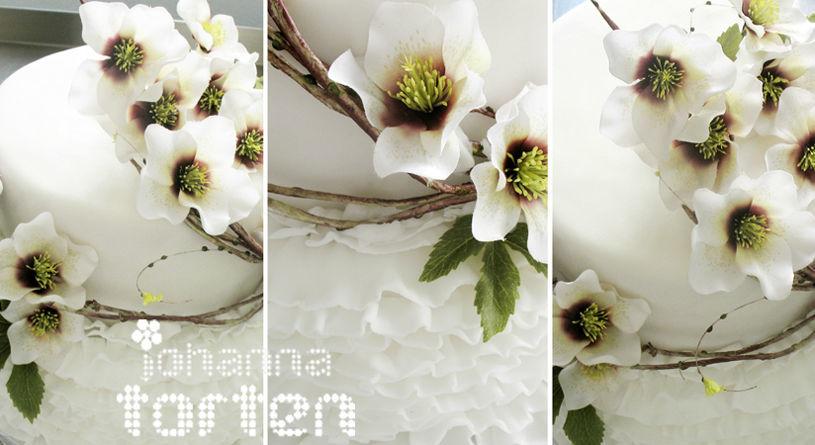 Beispiel: Hochzeitstorte, Foto: Johannatorten.