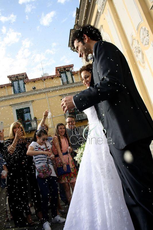 Sorrento Wedding - gli sposi all'uscita della Chiesa