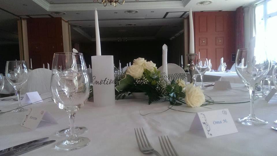 Beispiel: Tischdekoration, Foto: Landhotel Schloss Teschow.