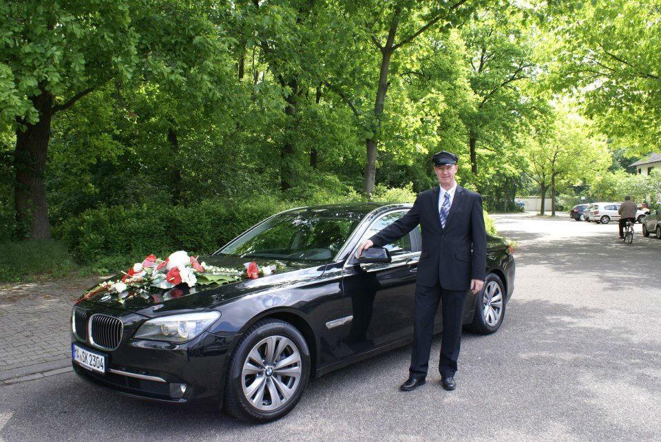 Beispiel: BMW als Hochzeitsauto, Foto: Limo-Day Mannheim.