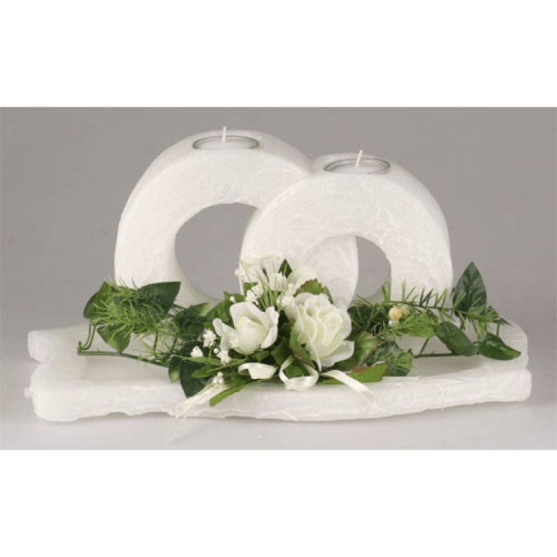 Beispiel: Hochzeitskerzen, Foto: Kerzenwelt.