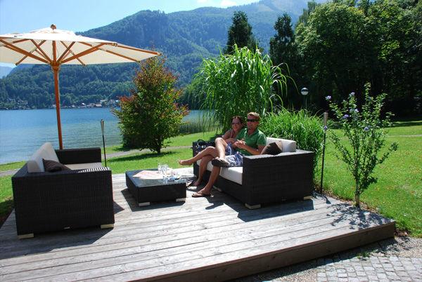 Beispiel: Terrasse, Foto: Seecafe Restaurant Spitzvilla.