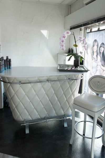 Beispiel: Empfang im Salon, Foto: Jasmin's Hair & Design.