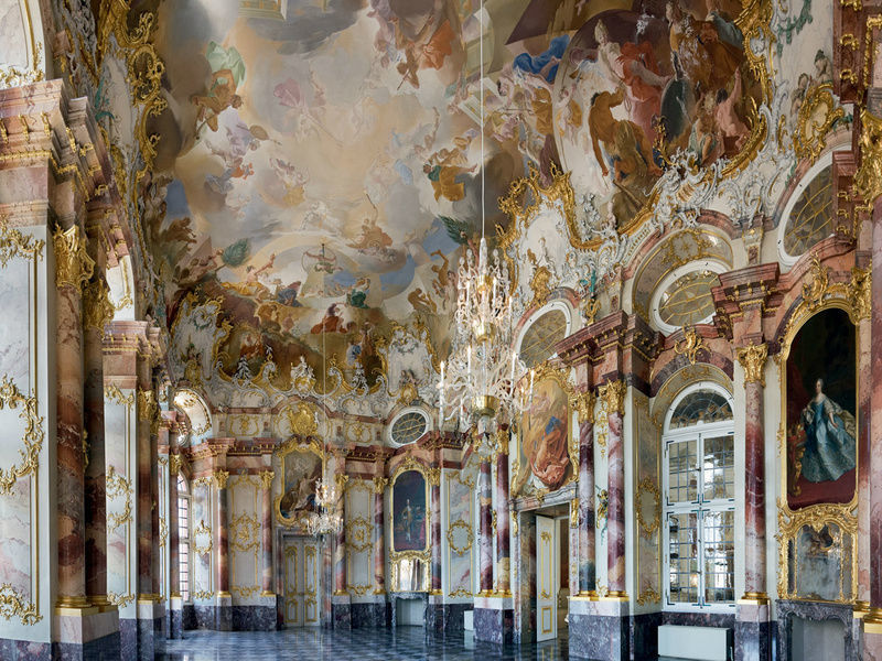 Beispiel: Marmorsaal, Foto: Schloss Bruchsaal.